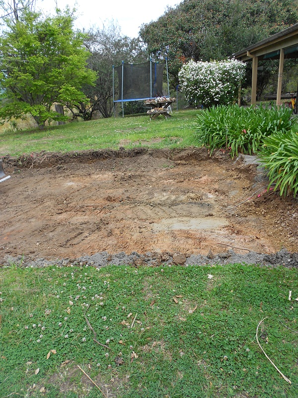 The start of the excavating