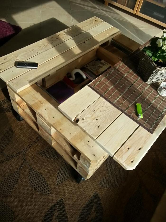 Make A Lift Top Coffee Table Out Of Pallets Your