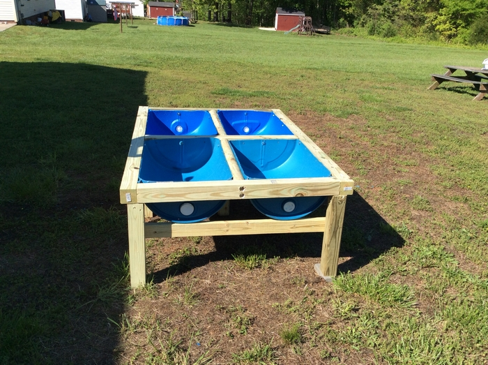 Plastic Barrel Raised Garden Bed