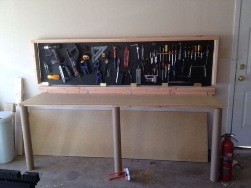 How To Build A Wall Mounted Folding Workbench Your