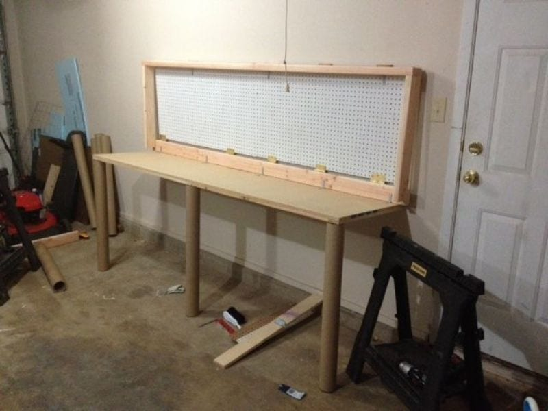 How To Build A Wall Mounted Folding Workbench Your Projects Obn