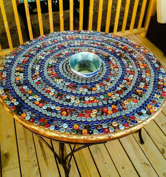 Diy Bottle Cap Table Your Projects Obn
