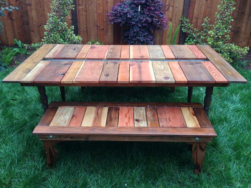 DIY Reclaimed Wood Picnic Table With Planter Your ProjectsOBN - Ready to assemble picnic table