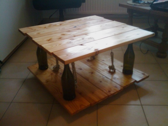 Ten Green Coffee Table From Reclaimed Timber And Glass