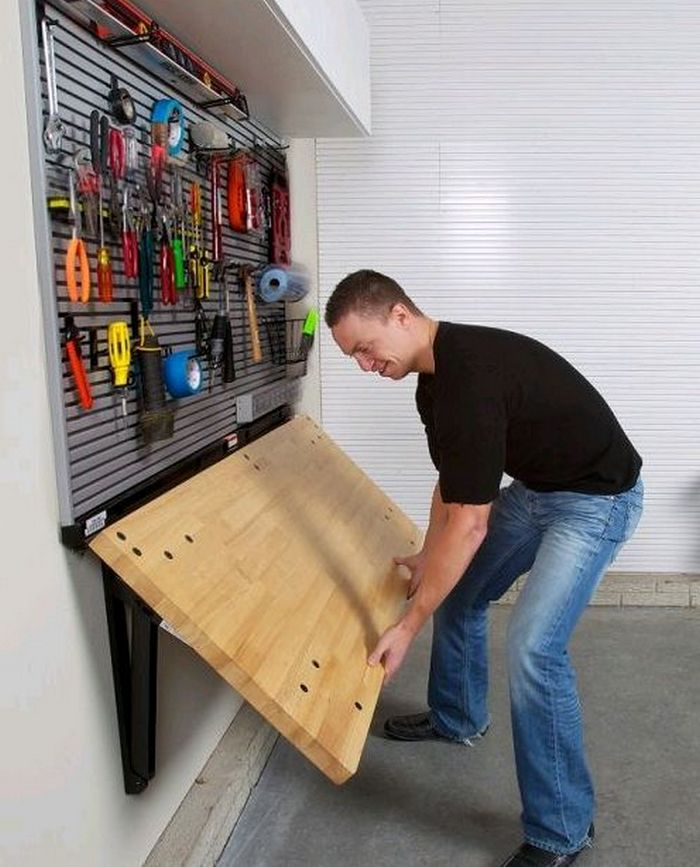 How To Build A Wall-Mounted Folding Workbench