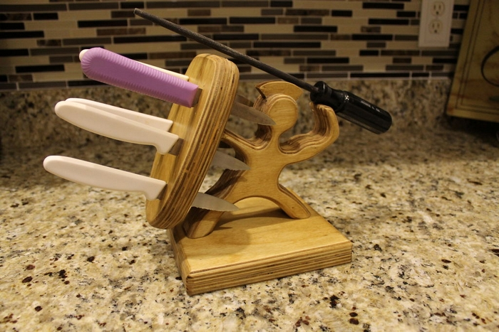 Diy Knife Block Your Projects At Obn