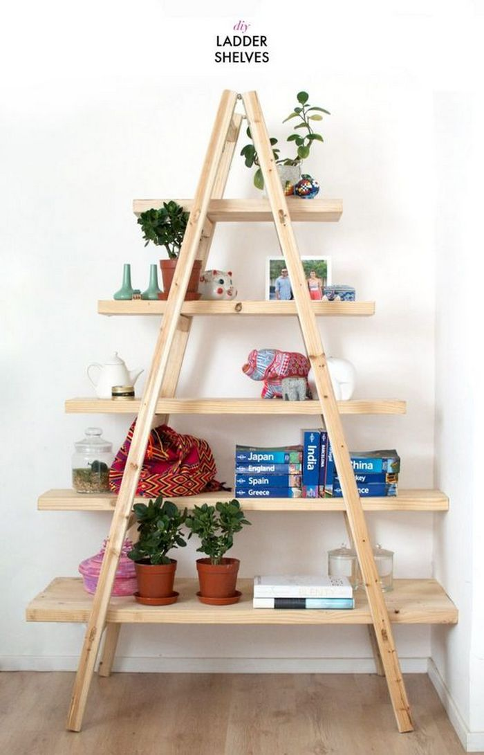 How To Turn A Ladder Into A Bookshelf Your Projects Obn