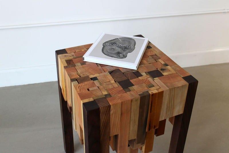 Wood Scrap End Table