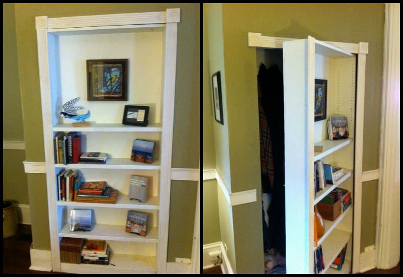 - Turn A Bookcase Into A Secret Door