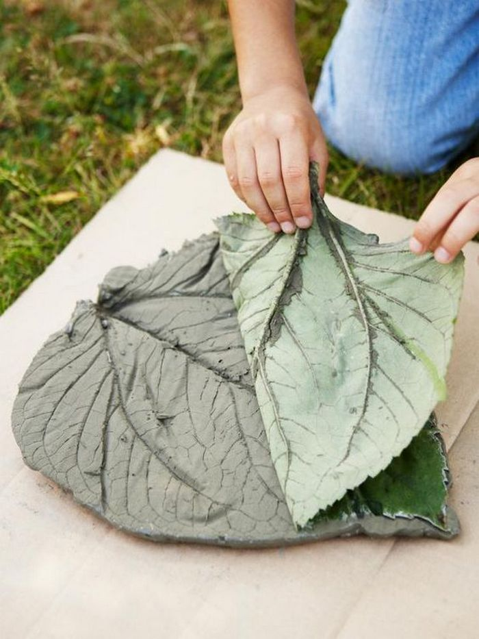 Diy Garden Concrete Leaves Your Projects Obn