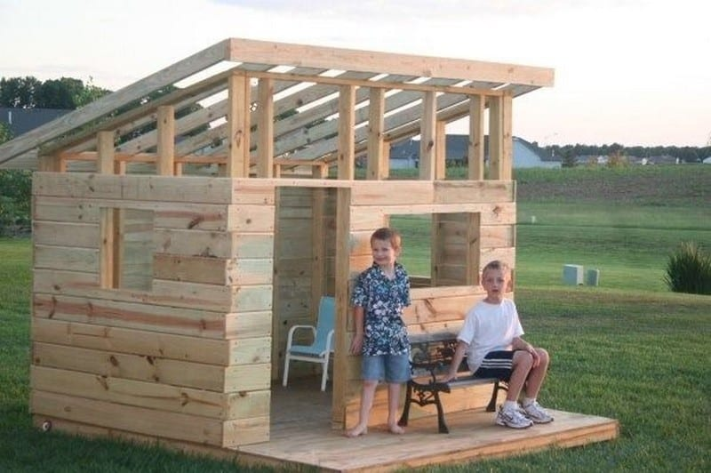 The wild west comes to the backyard your projects obn for Diy kids fort plans