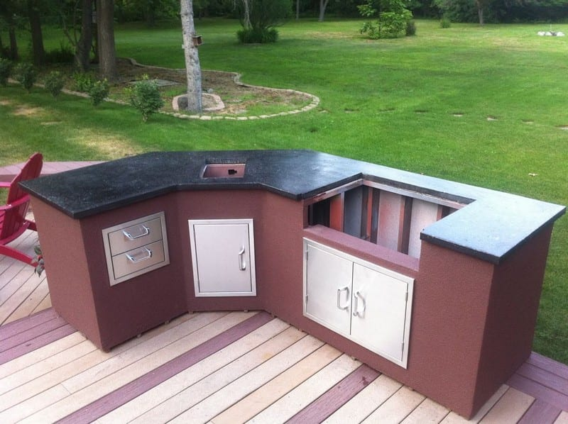 diy outdoor kitchen island diy outdoor kitchen your projects obn 17390