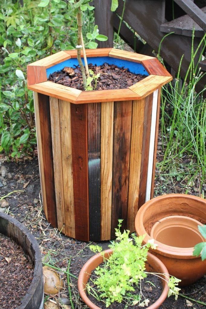 DIY Plastic Barrel Planter