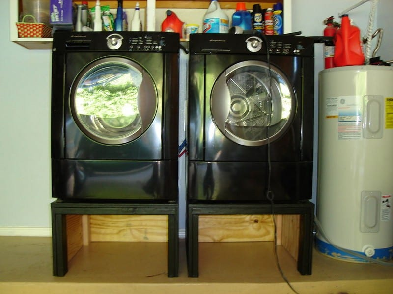 DIY Washing Machine and Dryer Pedestal