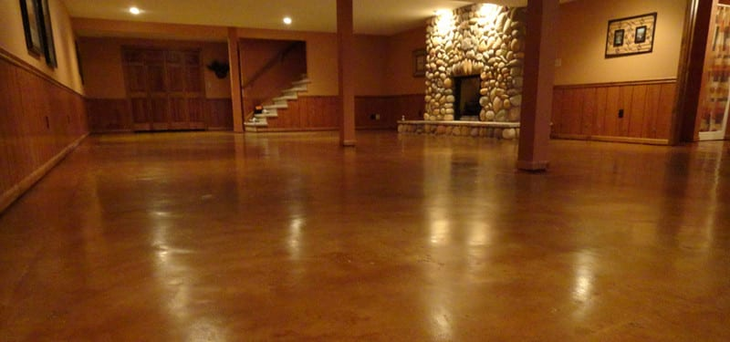 An example of a stained concrete floor