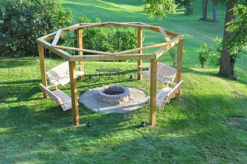 Build your own fire pit swing set your projects obn for How to build a swing set for adults