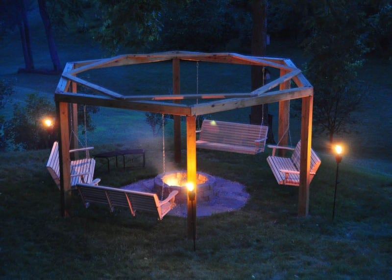 Build Your Own Fire Pit Swing Set Your Projects Obn