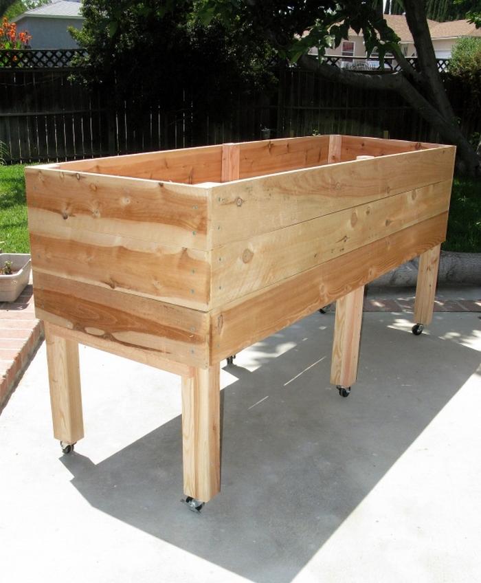 Diy waist high planter box your projects obn - Waist high raised garden bed plans ...