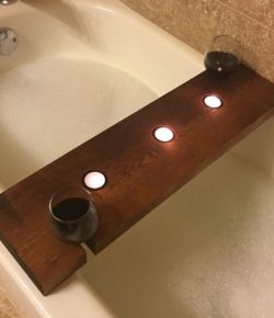 DIY Bathtub Caddy Trays