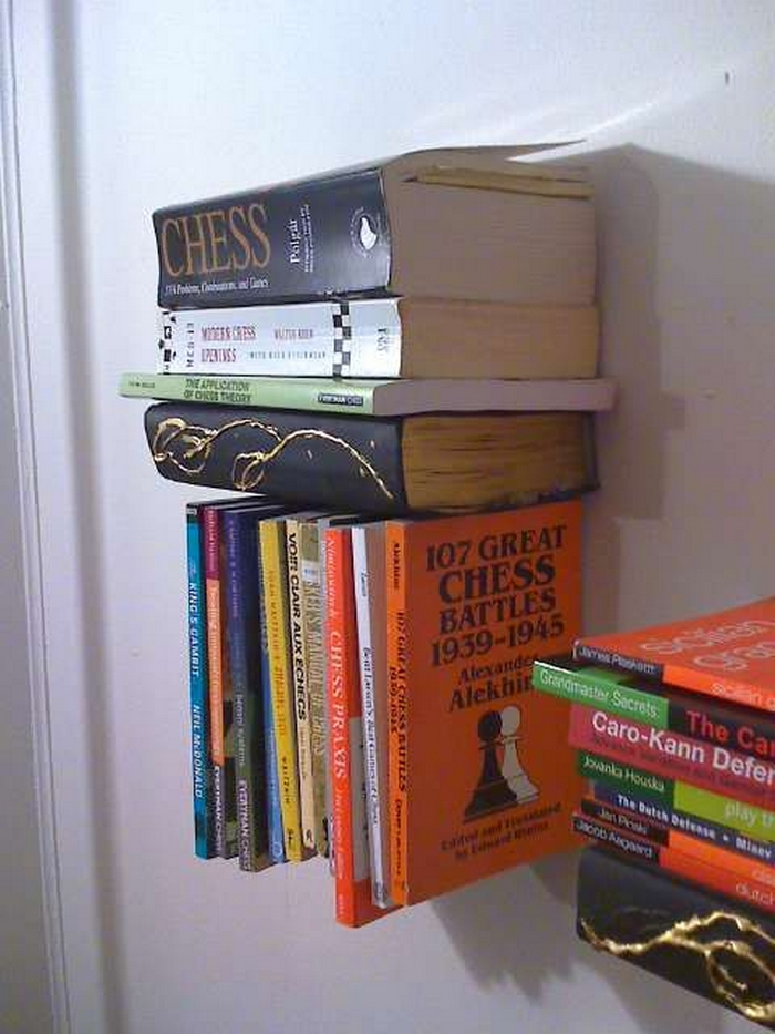 Diy Inverted Bookshelf Your Projects Obn