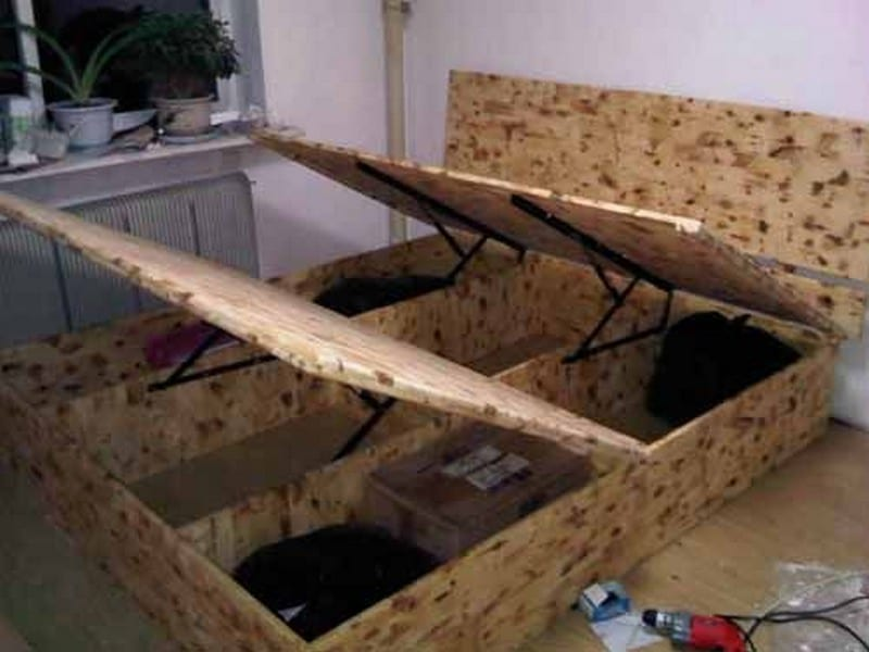Diy Lift Top Storage Bed
