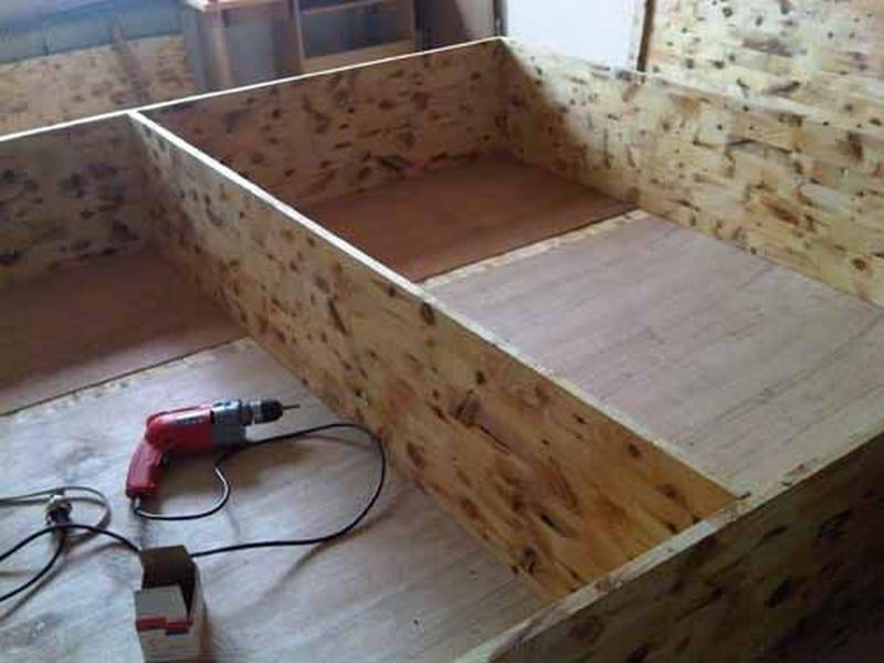Diy king bed frame - Diy Lift Top Storage Bed