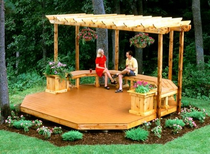How to build an octagonal deck your projects obn for Outdoor floating deck