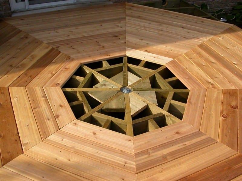 DIY Octagonal Deck 15