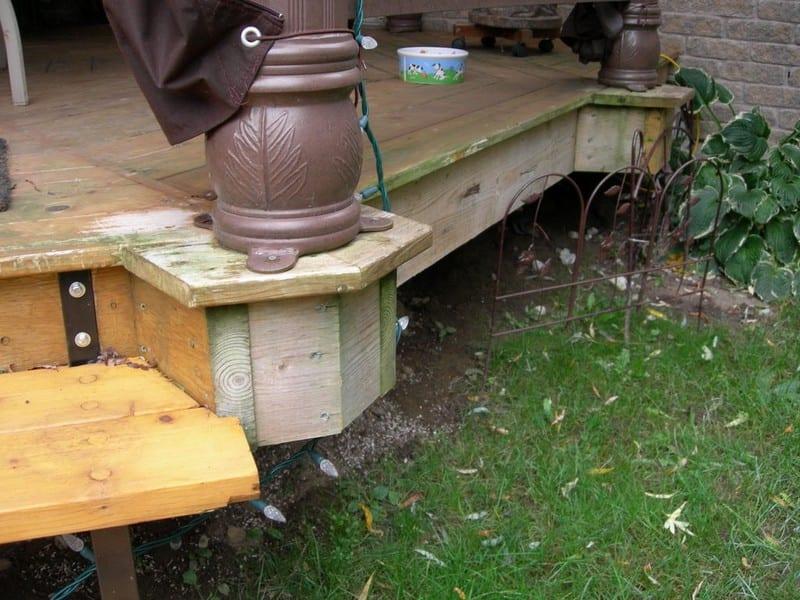 DIY Octagonal Deck 23