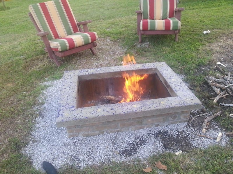 Diy Fire Pit With Custom Cap Stone Your Projects Obn