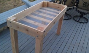 DIY Raised Herb Planter