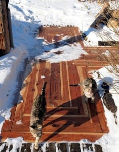 How To Turn Reclaimed Timber Into A Sidewalk