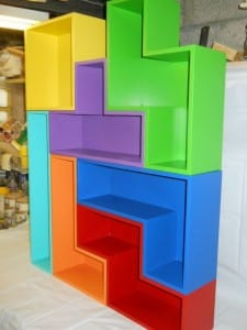 DIY Tetris Bookshelves