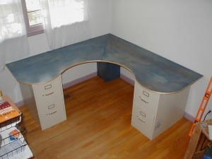 DIY Wrap-Around Desk