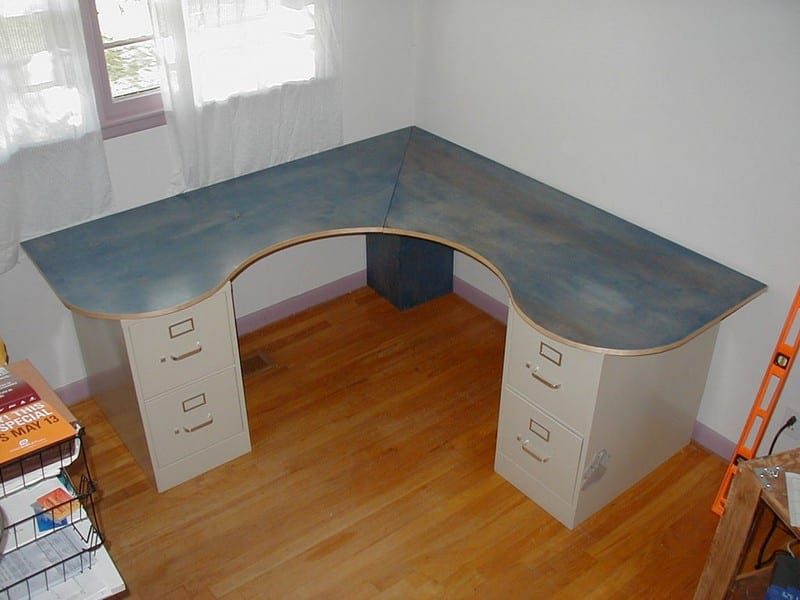 DIY Wrap-Around Desk