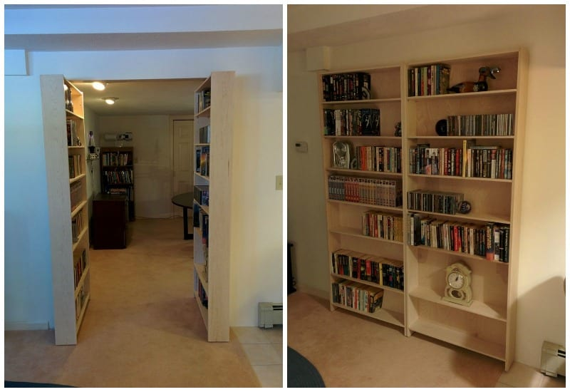 DIY Hidden Bookcase Door