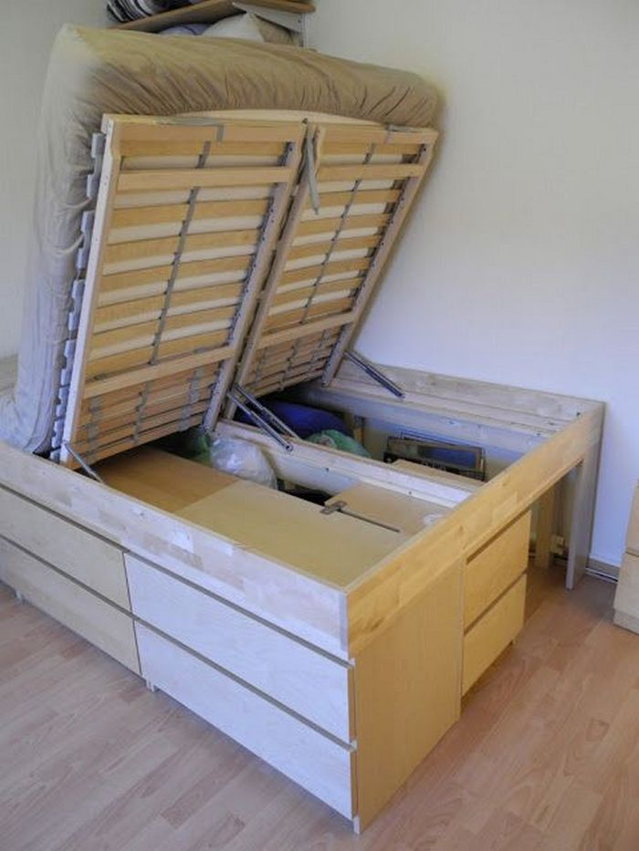 diy lift top storage bed your projects obn. Black Bedroom Furniture Sets. Home Design Ideas