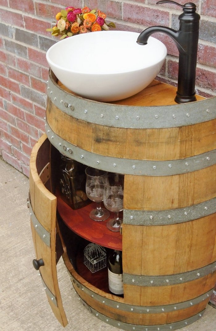 Diy Wine Barrel Outdoor Sink Your Projects Obn