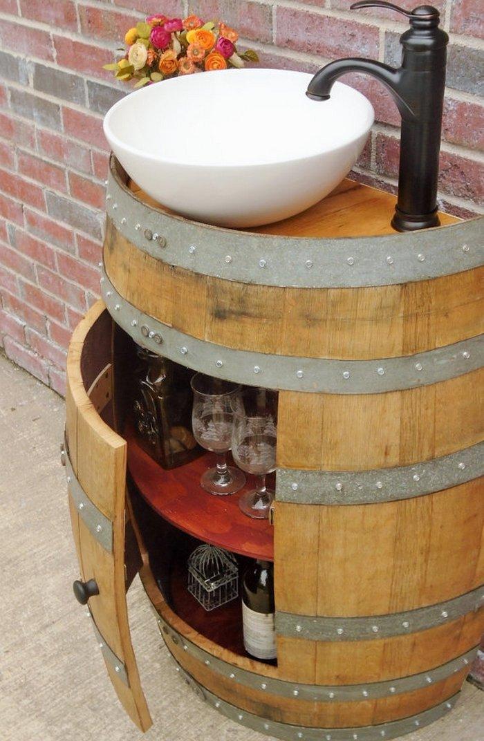 Wine Barrel Bathroom Vanity. Wine Barrel Sink Ideas Wine Barrel Vanity