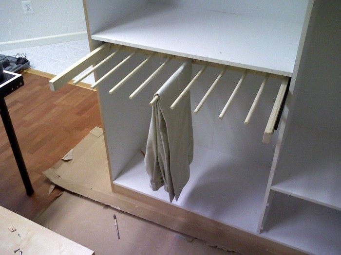 DIY Sliding Pants Rack