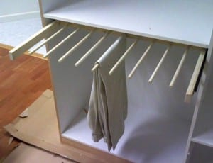 DIY Sliding Pants Rack