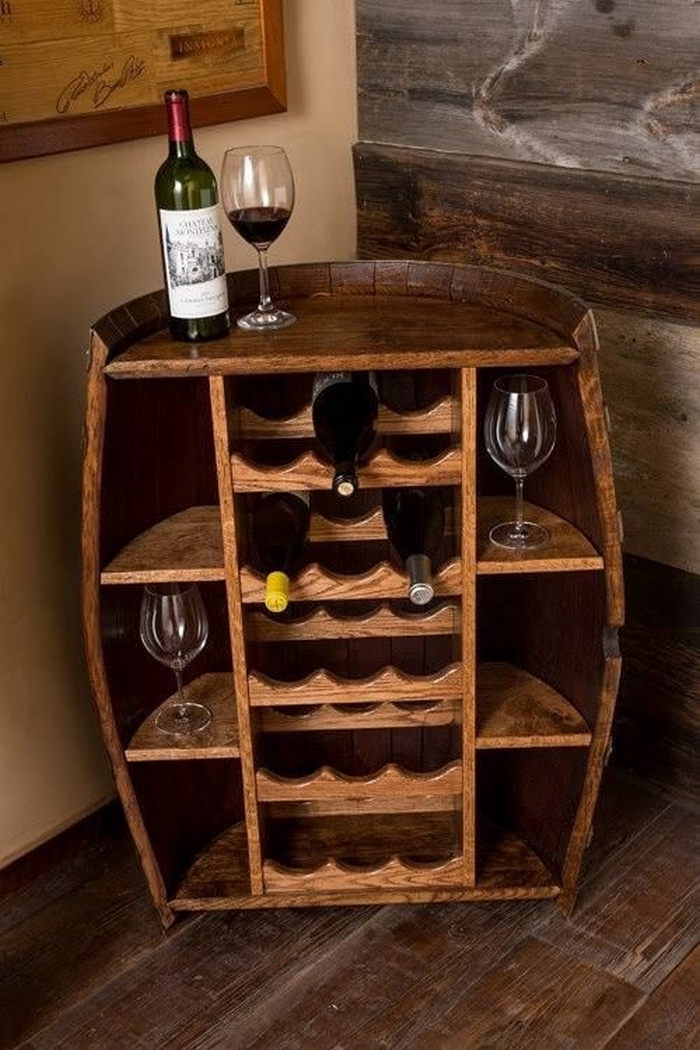 Diy oak barrel bar your projects obn for How to build a wine bar