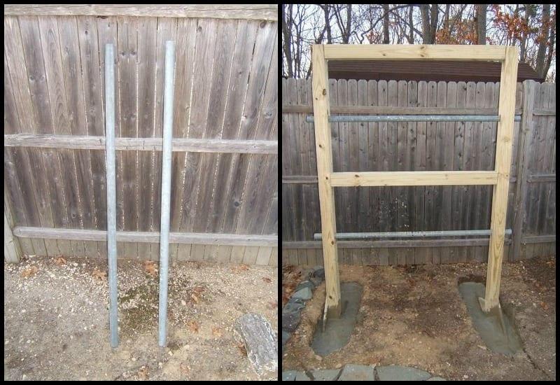Double-Decker Drum Composter Galvanized Poles