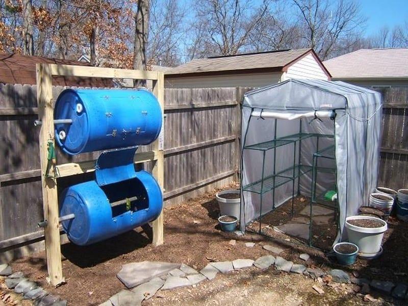 Double-Decker Drum Composter