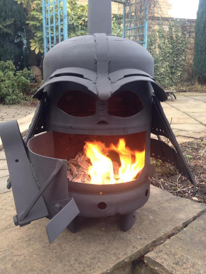 How To Build A Darth Vader Log Burner From A Gas Bottle
