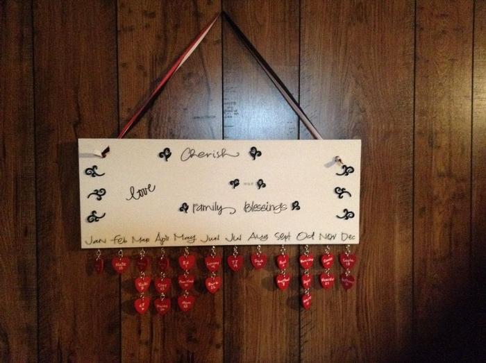 DIY Hanging Birthday Calendar