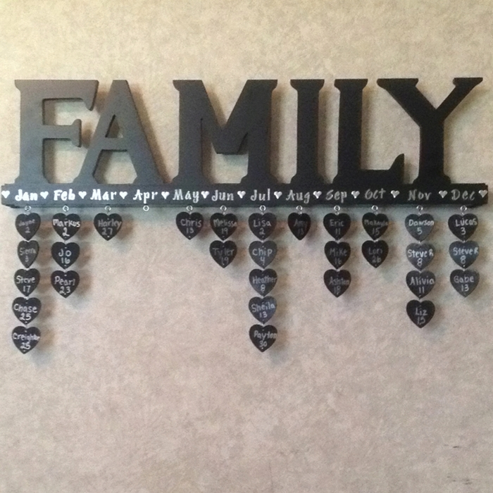 Make your own hanging birthday calendar your projects obn for What to get your grandma for her birthday