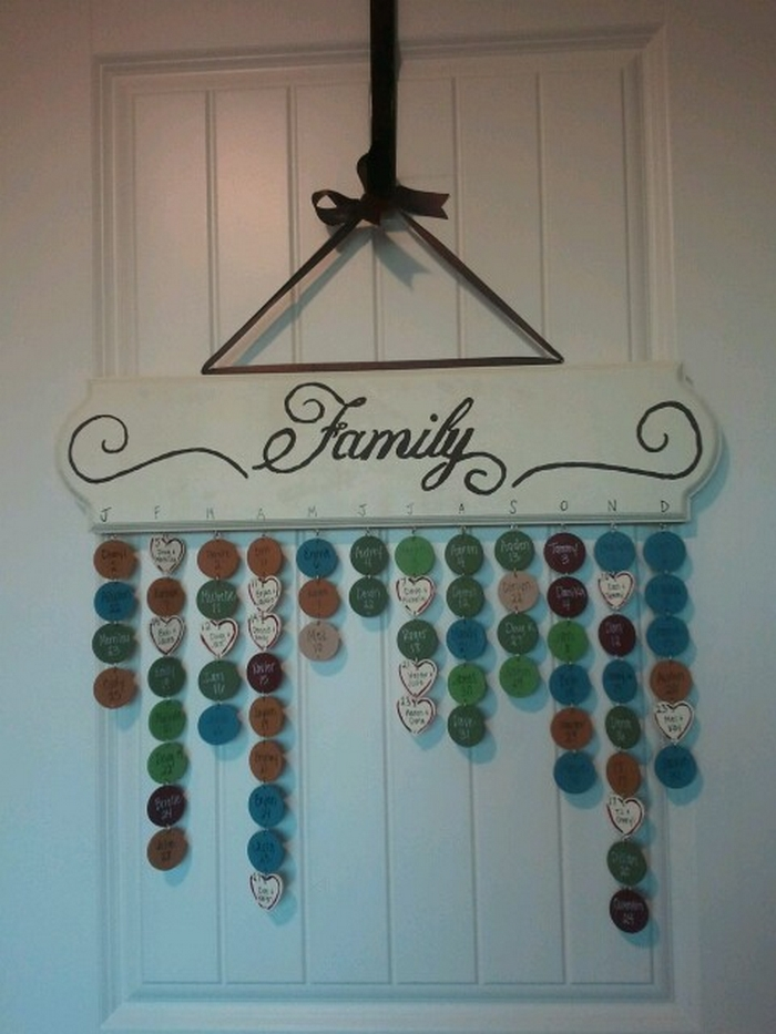 Diy Calendar Hanger : Make your own hanging birthday calendar projects obn