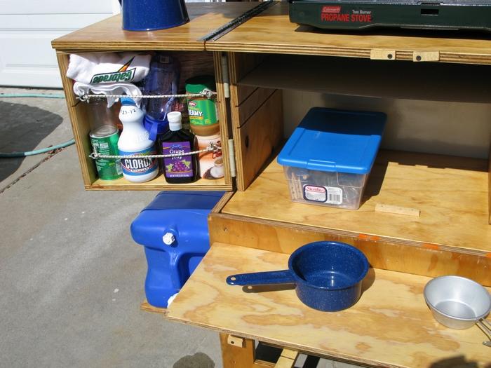 DIY Potable Camp Kitchen