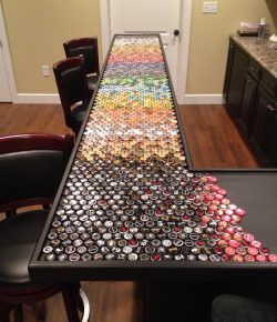 Bottle Cap Bar Top